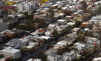 San Juan, Puerto Rico a week after Hurricane Maria.