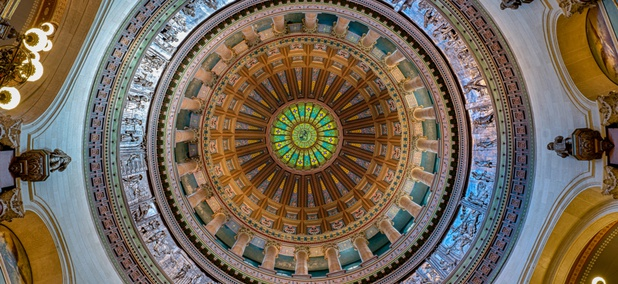 The Rotunda inside the Illinois State Capitol in Springfield.