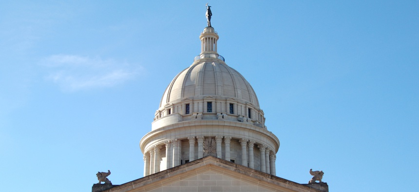 The Oklahoma State Capitol in Oklahoma City.