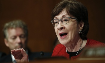 Sen. Susan Collins, R-Me., questions Alex Azar, President Donald Trump's nominee to become Secretary of Health and Human Services, during a Senate Health, Education, Labor and Pensions Committee confirmation hearing on Capitol Hill, Nov. 29, 2017.