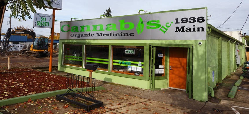 A medical marijuana dispensary in Springfield, Or.