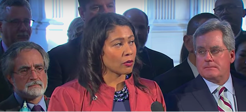 London Breed, the president of the San Francisco Board of Supervisors is serving as acting mayor.