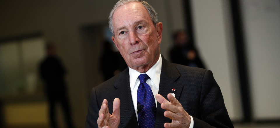 Special envoy to the United Nations for climate change Michael Bloomberg at the One Planet Summit, in Boulogne-Billancourt, near Paris, France, Tuesday, Dec. 12, 2017.