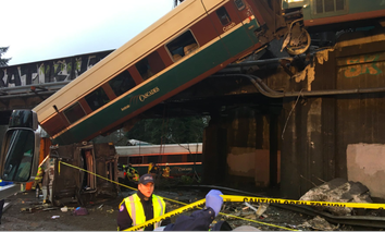 An Amtrak Cascades train derailed Monday morning near Dupont, Washington.