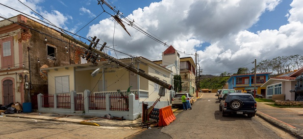 Maricao, Puerto Rico, a few weeks after Hurricane Maria.