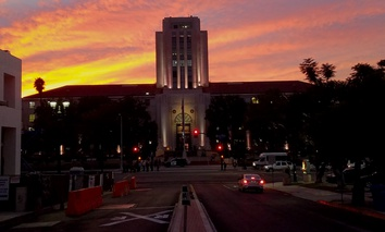The San Diego County Administration Building in downtown San Diego