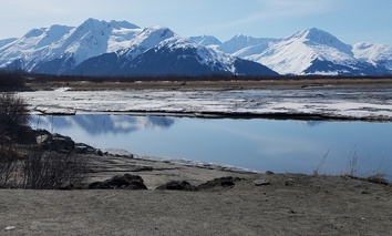 Along the Seward Highway near Portage, Alaska