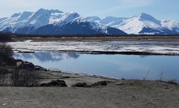 Along the Seward Highway near Portage, Alaska