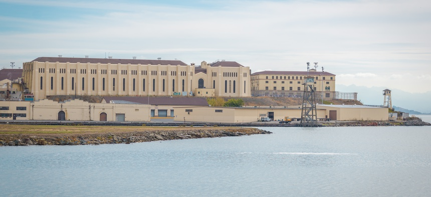 San Quentin State Prison in San Quentin, Ca.