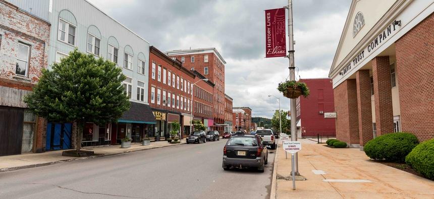 Downtown Elkins, West Virginia in May of 2017.