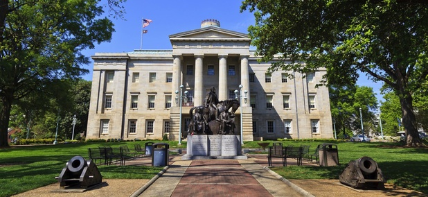 North Carolina Capitol Building in Raleigh, Nc.
