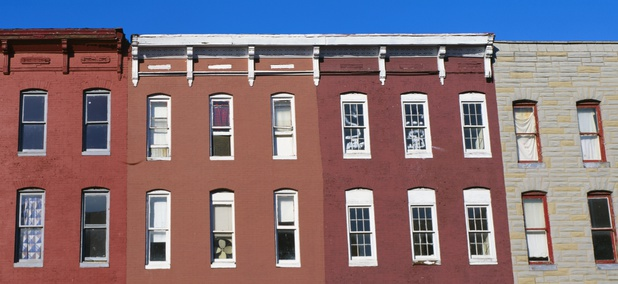 Rowhouses in Baltimore, Maryland
