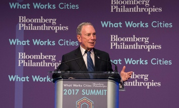 Former New York City Mayor Michael Bloomberg speaks at last year's What Works Cities annual summit.
