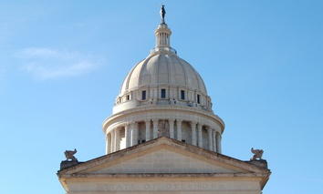 The Oklahoma State Capitol in Oklahoma City.
