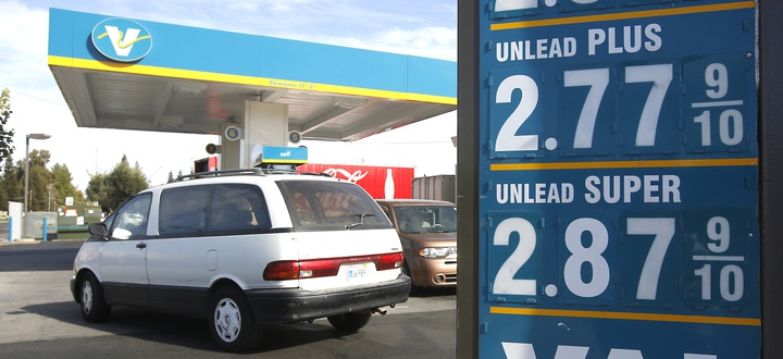 Gas prices are disp, ... ]