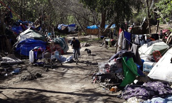 A homeless encampment in San Jose, Calif.