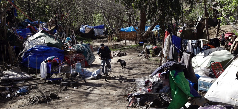A homeless encampment in San Jose, Calif.