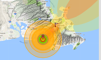 What a 200 kiloton detonation in Honolulu would look like.