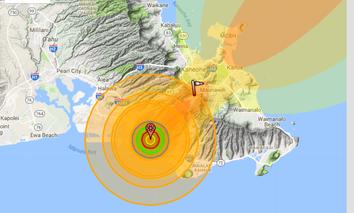 What a 200 kiloton detonation in Honolulu would look like.