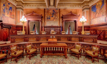 Pennsylvania Supreme Court chambers in Harrisburg, Pa.