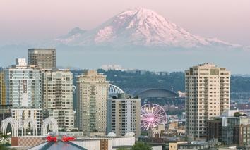 Mount Rainier as seen from Seattle