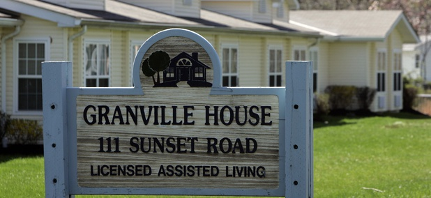 The Granville House assisted living facility is seen Thursday, April 16, 2009, in Burlington, N.J.