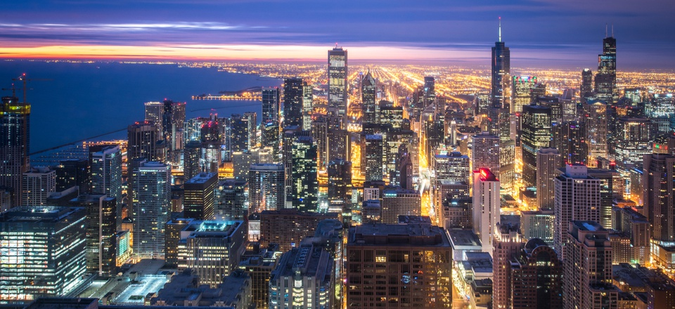 Looking southward in Chicago, Illinois