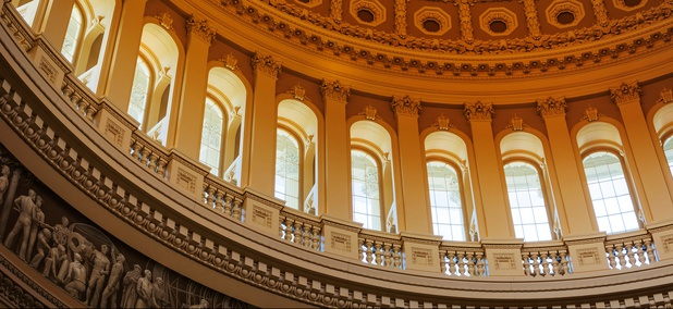 The Rotunda of the U.S. Capitol in Washington, D.C.