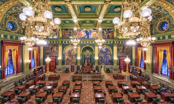 The Pennsylvania State Senate chamber.