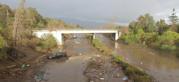 U.S. Hwy. 101 was closed following massive mudslides in Montecito, California in January.