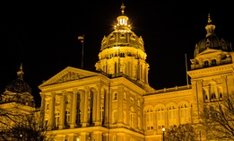 The Iowa State Capitol in Des Moines