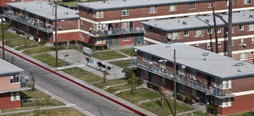 Pueblo Del Rio public housing in South Los Angeles.