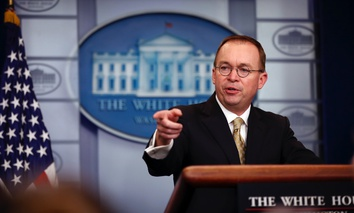 Office of Management and Budget Director Mick Mulvaney, who also directs the Consumer Financial Protection Bureau part-time.