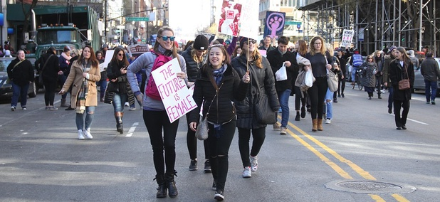 The 2018 Women's March on Jan. 20 in New York City.