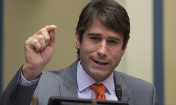 Rep. Garret Graves, R-La., speaks on Capitol Hill in Washington, Friday, Sept. 9, 2016, during the House Oversight and Government Reform subcommittee on Transportation and Public Assets hearing on FEMA's response to the flooding in Baton Rouge La.