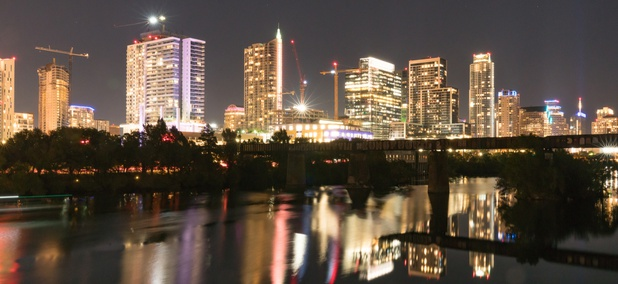 Austin at night.
