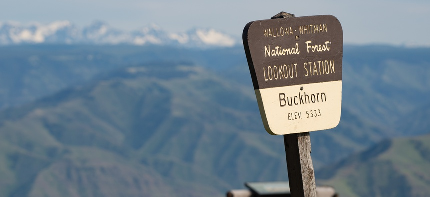 A lookout point in Hells Canyon National Recreation Area in 2017.