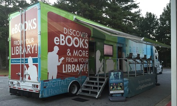 Forsyth County Public Library bookmobile in Cumming, Georgia.