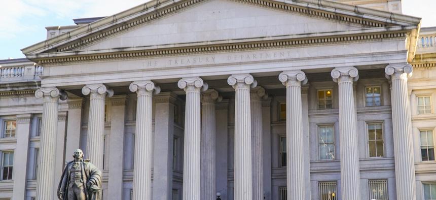 The Treasury Department headquarters in Washington, D.C.