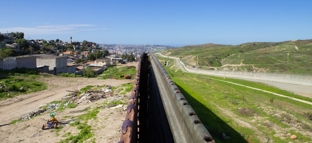 The U.S.-Mexico border near Tijuana.