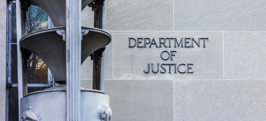 The Justice Department headquarters in Washington, D.C.
