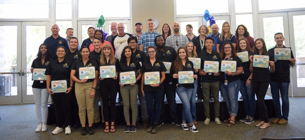 Eighteen interns graduated from the Summer STEPS program during a ceremony at West Sacramento City Hall in August 2017.