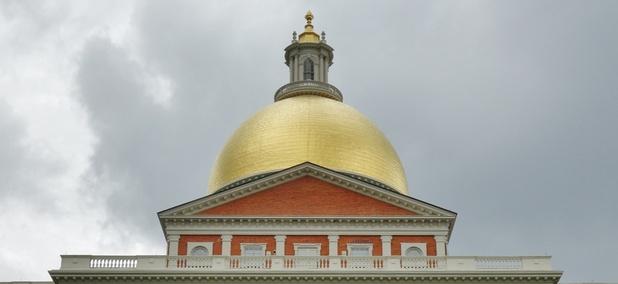 The Massachusetts Statehouse in Boston.