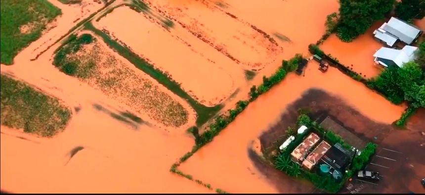 Flooding along Kauai's Hanalei Bay in Hawaii on April 15.