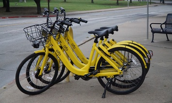Ofo bikes in Dallas