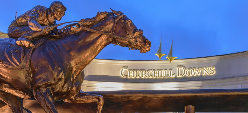 Churchill Downs in Louisville, Kentucky