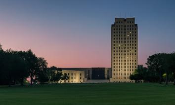 The North Dakota Capitol in Bismarck.