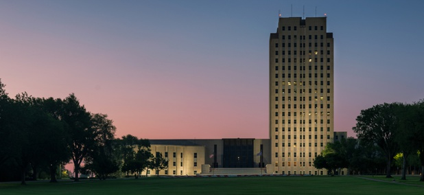 The North Dakota Capitol in Bismarck.
