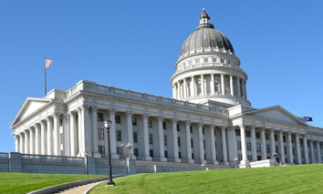 The Utah State Capitol in Salt Lake City