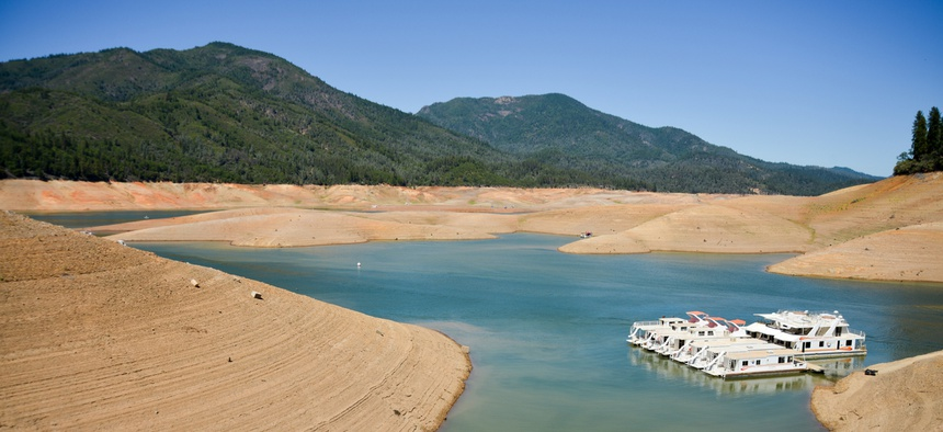 Lake Shasta in Northern California, seen here in 2014.